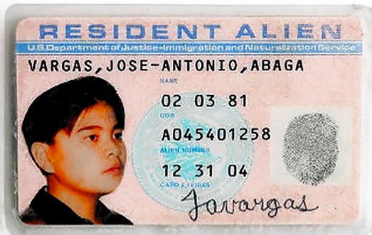 This was the only identification Vargas possessed upon arrival in Los Angeles.