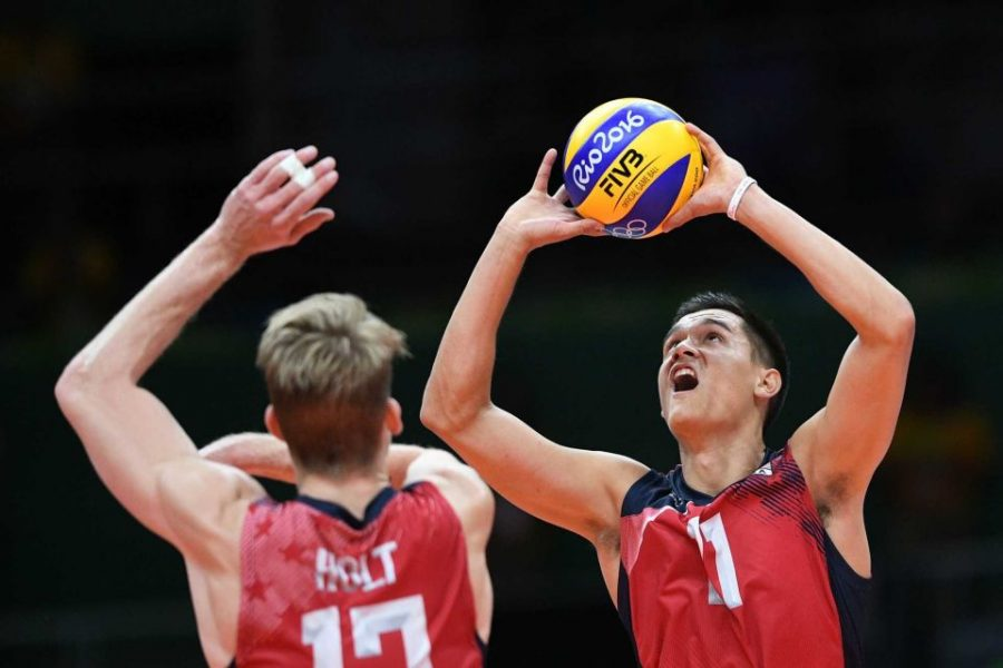 KS graduate Micah Christenson, starting setter for the men's volleyball team, led the U.S. to a Bronze medal finish.