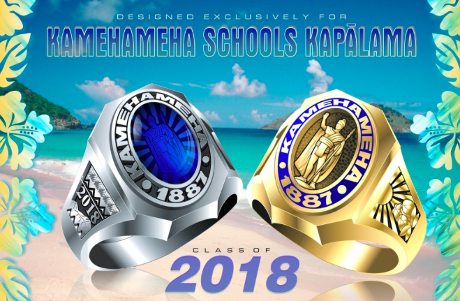 Shown above are the ring designs for the class of 2018.