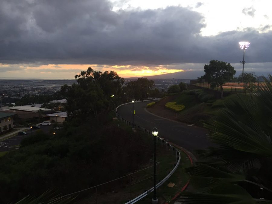 The sunsets of over the Waiʻanae mountain range, after a day on