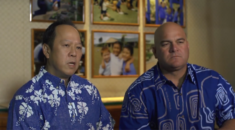 CEO Jack Wong (left) and Trustee Micah Kāne (right) discuss recent lawsuits filed against Kamehameha Schools.