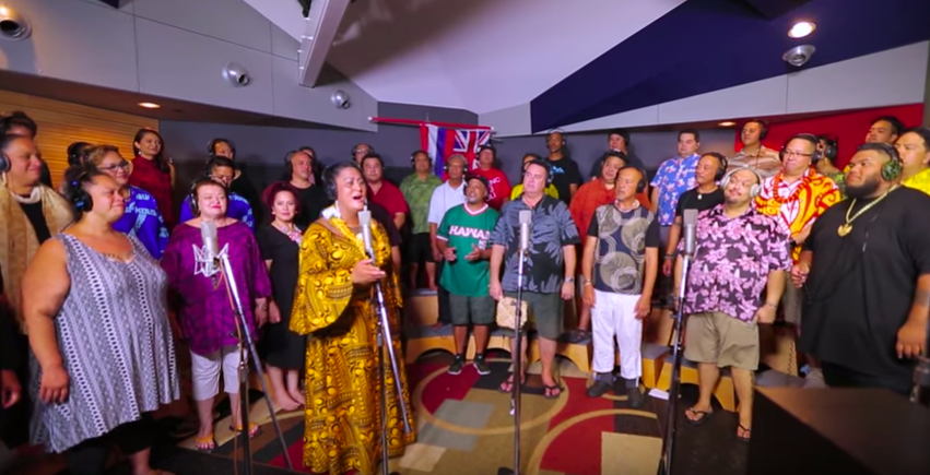 Hawaiian musicians came together to show their love and support for Hawaiʻi and Mauna Kea.
