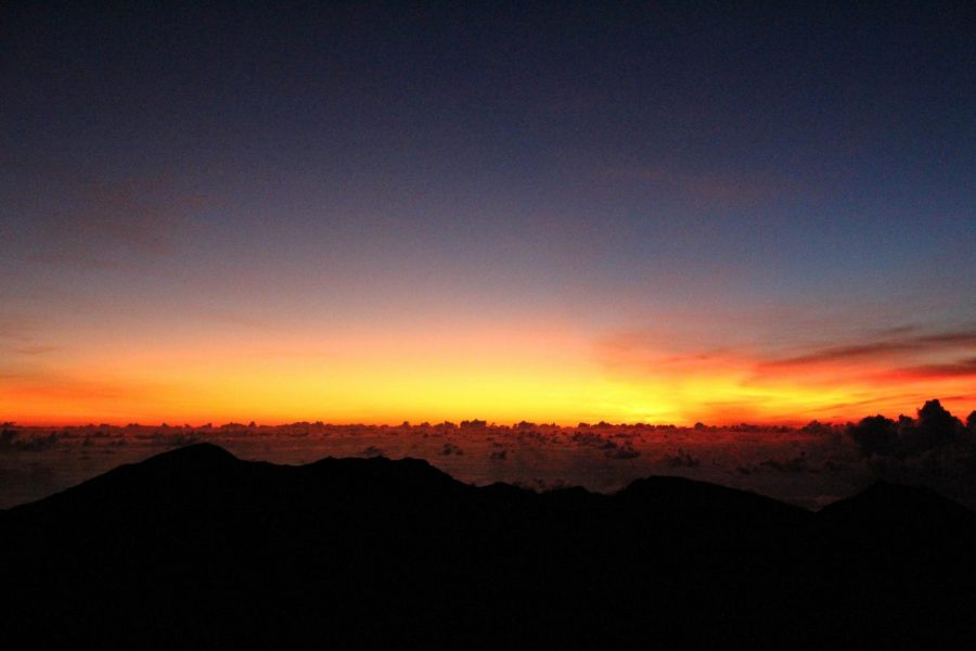 The breathtaking sunrise at Haleakala on an early October morning
