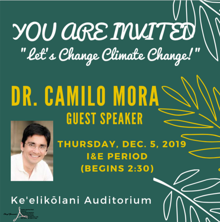 University of Hawaii Professor, Dr. Camillo Mora, will be hosting an event to plant 10,000 trees in one day to help make our world carbon neutral.