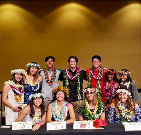 Kapalama Warriors at the National Letter of Intent signing to their colleges