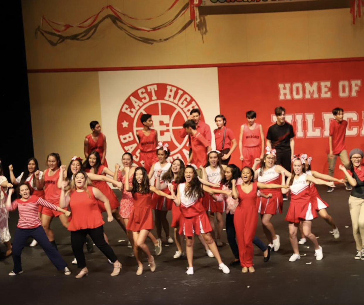 """The whole cast performs to """"We're All In This Together"""" at the final performance of week one"""