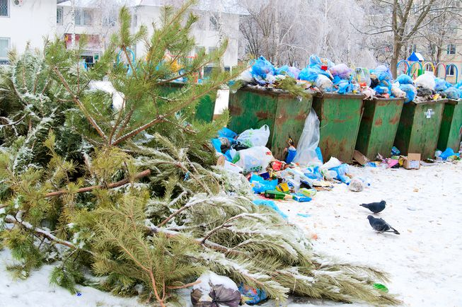 Trash piles up in the midst of celebrating the Holidays