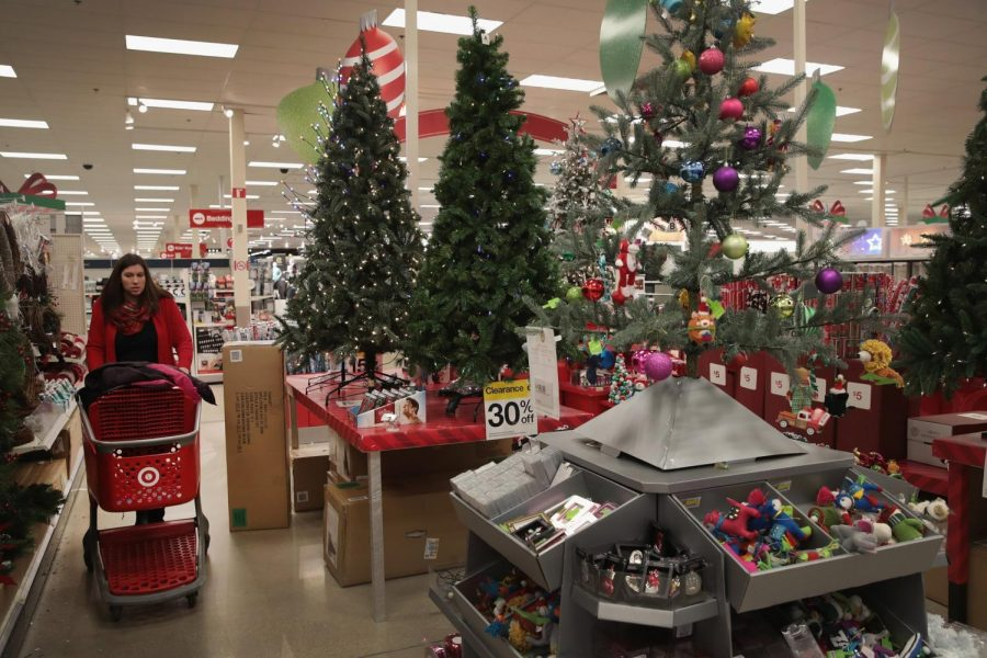 Christmas decorations are in stores as the Holiday season approaches