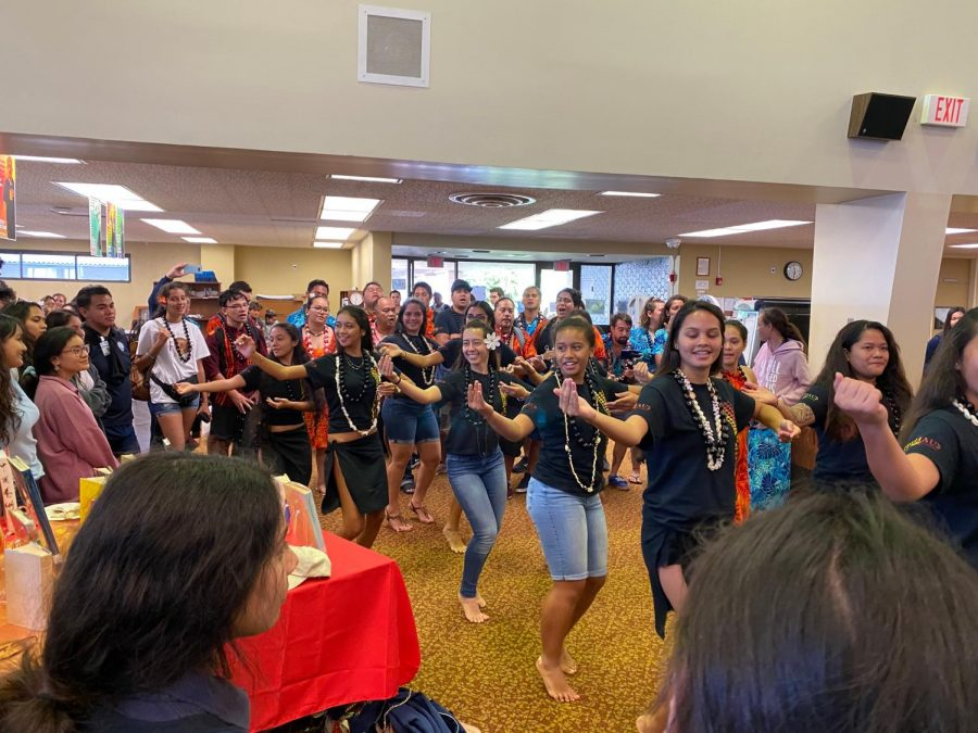 Tahitian students display their dances and culture to the Students of Kamehameha Schools