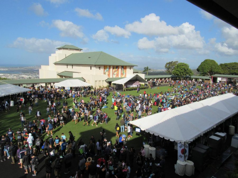 The+annual+Ho%CA%BBolaulea+attracts+thousands+to+the+Kamehameha+School%CA%BBs+Kap%C4%81lama+campus+to+celebrate+Hawaiian+culture.