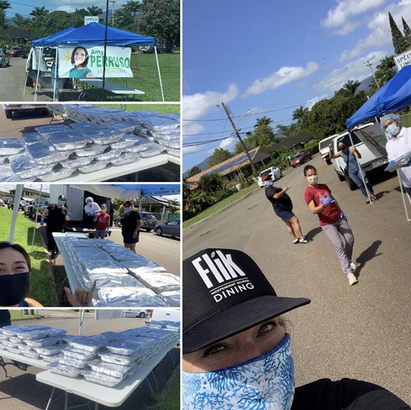 Kamehameha+FLIK+workers+helping+out+in+the+community.